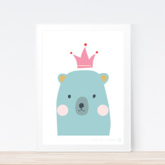 Once Upon A Bear (green) art print