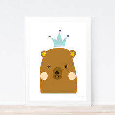 Once Upon A Bear (brown) art print