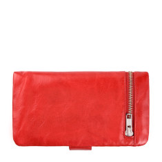 Esther leather wallet in red