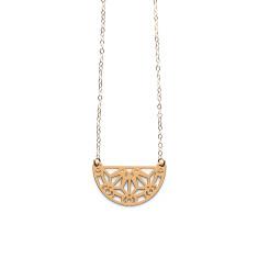 Gold nova necklace