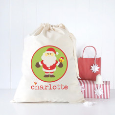 Santa circle personalised Santa sack