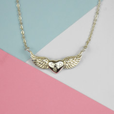 Winged Personalised Sterling Silver Necklace