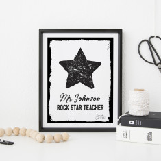 Rock Star Teacher Appreciation Print