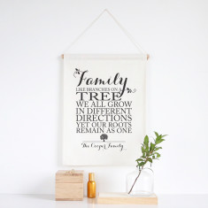 Family Roots personalised wall banner