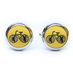 Yellow Bike Cufflinks