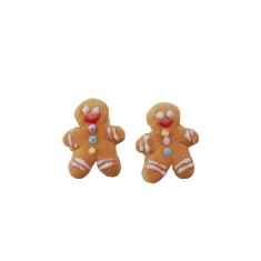 Gingerbread 'person' studs
