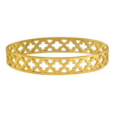 Moroccan bangle in 18 kt yellow gold plate