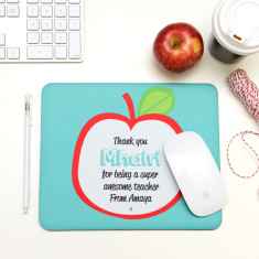 Personalised apple mouse pad