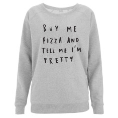 Buy Me Pizza Oversized Women's Sweater
