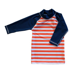 Classic long sleeve rashie for boys in Octopus Calypso
