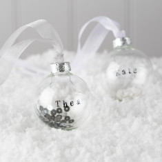 Personalised Glass Bauble With Sequins