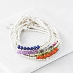 Silver Birthstone Bracelets With Semi Precious Stones