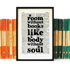 Literary gift print a room without books