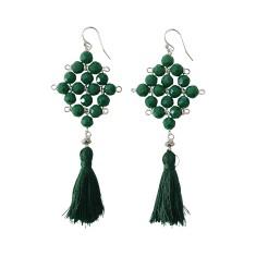 Defiant vine tassel earrings