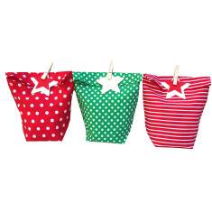 Christmas cheer giftbags (set of three)