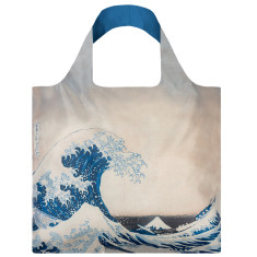 LOQI reusable bag in museum collection in the great wave