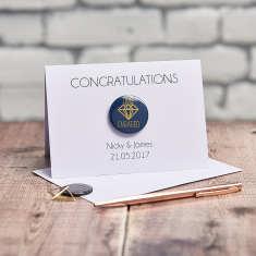 Personalised Engagement Foil Badge Card