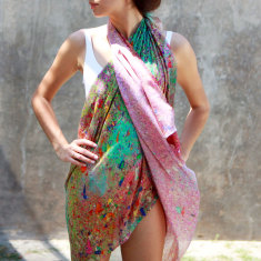 Glitter Cotton Silk Scarf and Sarong
