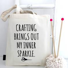 Crafting brings out my inner sparkle craft project bag
