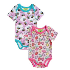Gummy Bears & Bumble Bee Rompers - 2 pack