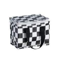Insulated Lunch Box bag in Checkerboard print
