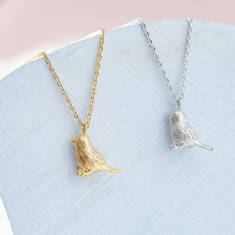 Tiny songbird necklace