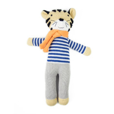 Weegoamigo Tiger Knit Toy