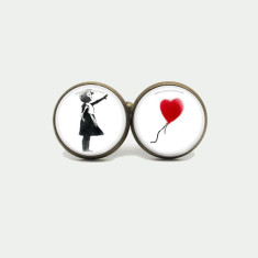 Banksy silver or antique cufflinks