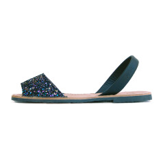 Serra leather sandals in opal glitter