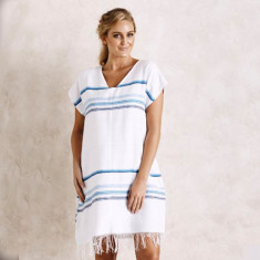 Cala Rossa tunic in white & blue