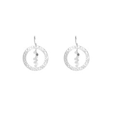 Grace Hoop Earrings in Sterling Silver