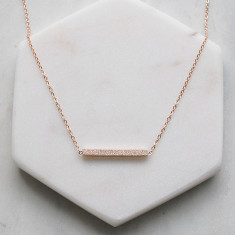 Bar necklace in rose gold or silver