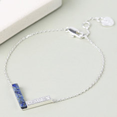 Personalised Marble Chevron Bracelet