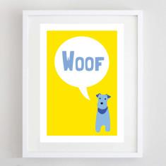 Woof dog print