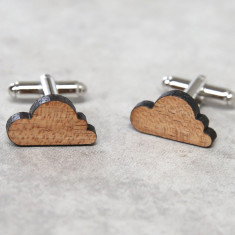Cloud solid timber cufflinks