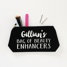 Personalised beauty enhancers makeup bag