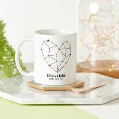 Personalised Heart Constellation Mug