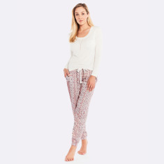 Rosegarden Lounge PJ Set Multi / Ivory