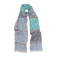 Aztec panel luxe scarf