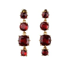 Ruby diamantine four stones earrings