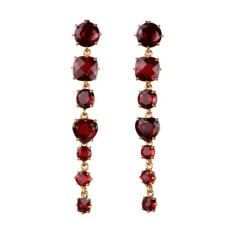 Ruby diamantine seven stones earrings
