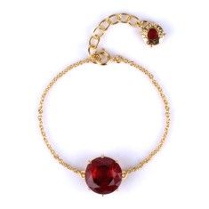Ruby diamantine single stone bracelet