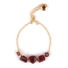Ruby diamantine five stones bracelet