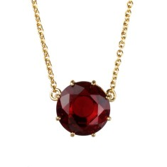 Ruby diamantine single stone necklace