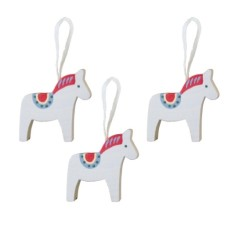 Dala Horse hanging decoration (3-pack)