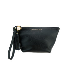 The Ani flat bottom pouch - black