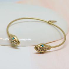 Cleopatra snake bangle