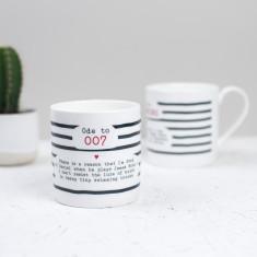 Daniel Craig 007 Poem Bone China Mug
