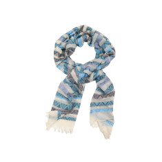 Dream soft blue cotton scarf