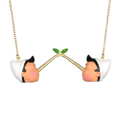 Two Pinocchio long necklace
